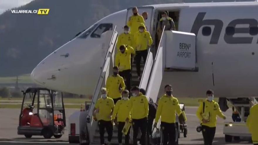 El Villarreal ya se encuentra en Berna (Suiza)