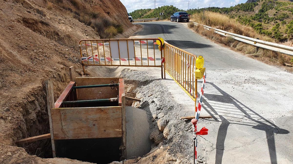 Fomento reparará los socavones de la DANA de 2019 en la carretera que une Puebla de Mula con Librilla