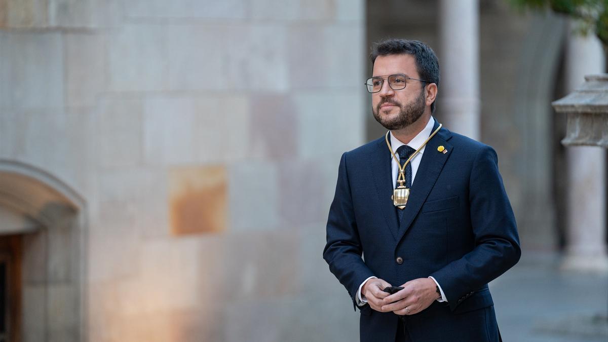 Pere Aragonès, en su toma de posesión.