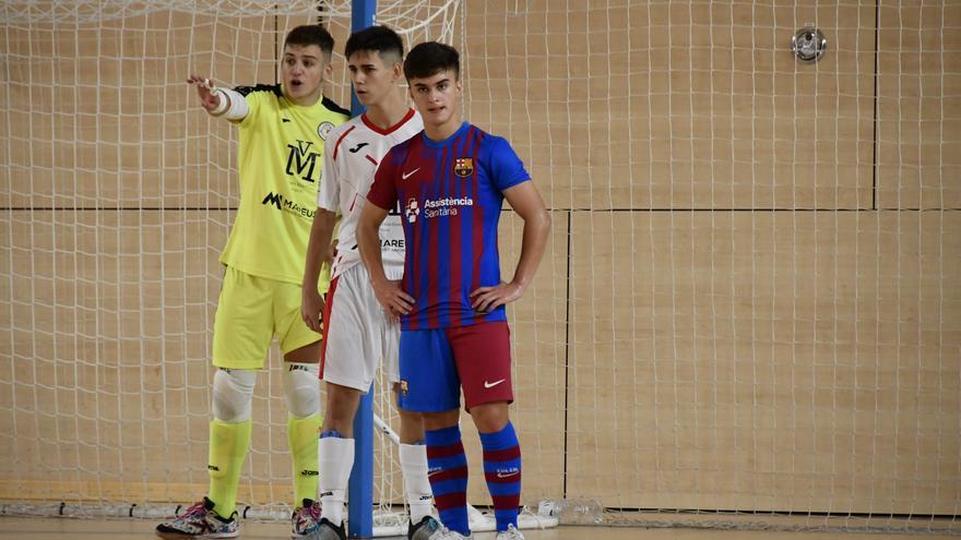 El juvenil del Sala 5 Martorell encaixa una golejada excessiva en els últims minuts a la pista del Barça