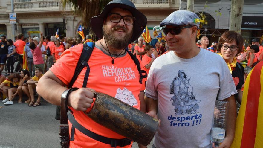 El Berguedà crida a favor de la llibertat dels presos i per la independència