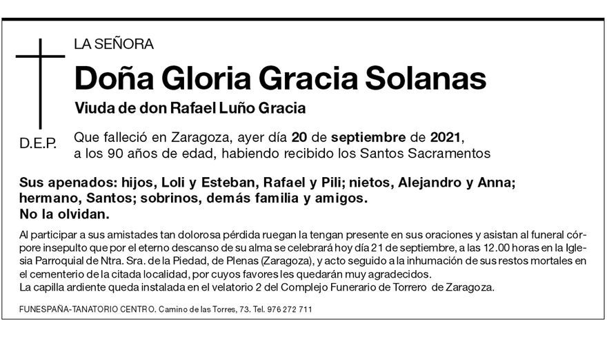 Gloria Gracia Solanas