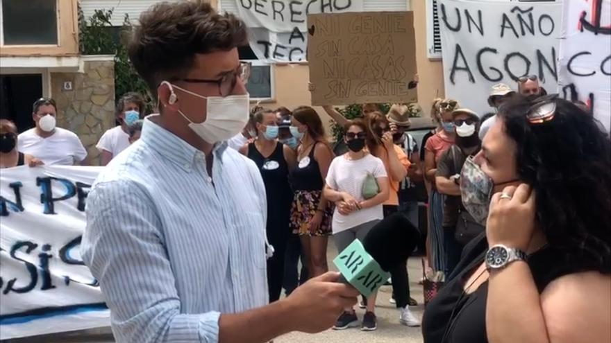 Apartamentos Don Pepe de Ibiza: nueva concentración de protesta de los vecinos