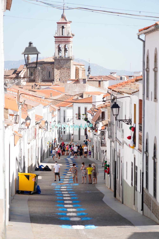 Alfombras para San Roque en Dos Torres