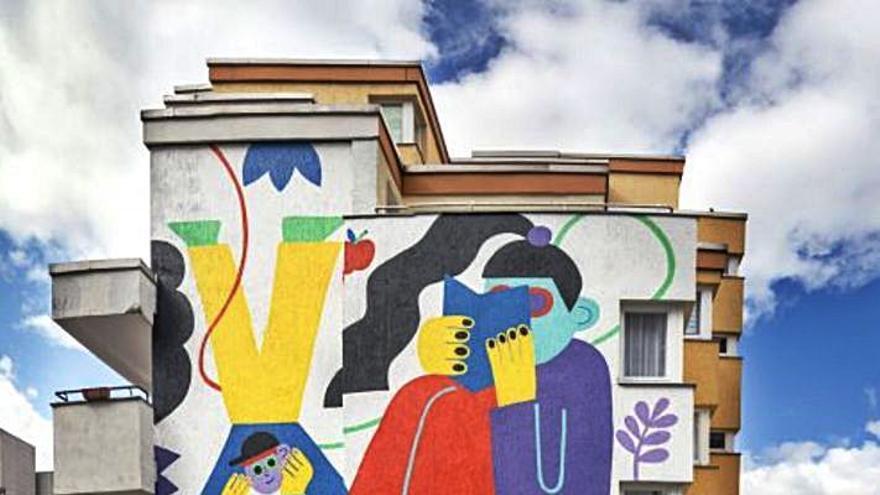 Parees dedicará un mural al Camino de Santiago, a cargo de la norteamericana Eldrige