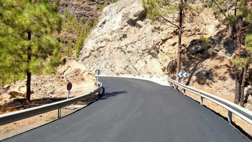 El Cabildo reabre al tráfico la GC-605, la carretera de acceso a la presa de Las Niñas