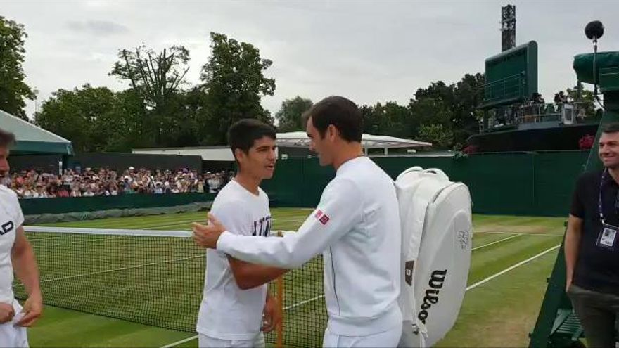 Carlos Alcaraz hace realidad su sueño en  Wimbledon