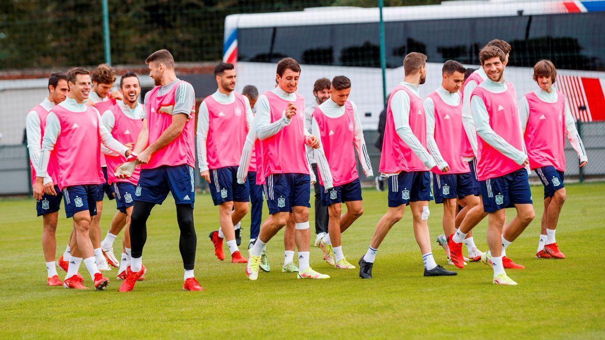 Training of the Spanish team.