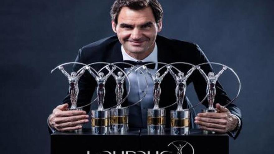 Federer hace historia en los premios Laureus