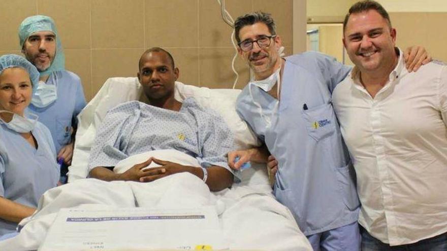 Yunier Pérez, operado con éxito de su rotura del tendón de Aquiles