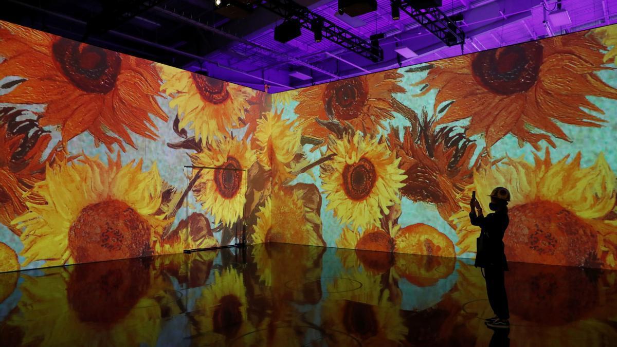 Una exposición de los cuadro del pintor Vincent van Gogh en Alemania.