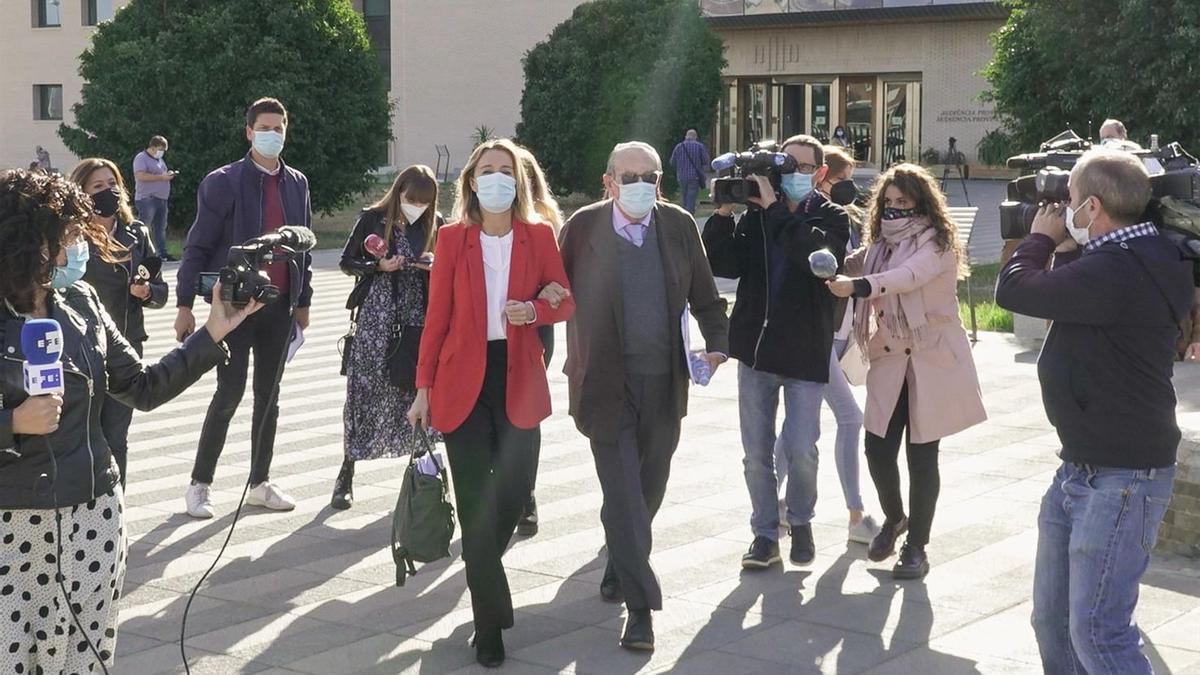 Carlos Fabra ix de la Ciutat de la Justícia de Castelló, en la seua última declaració davant dels tribunals