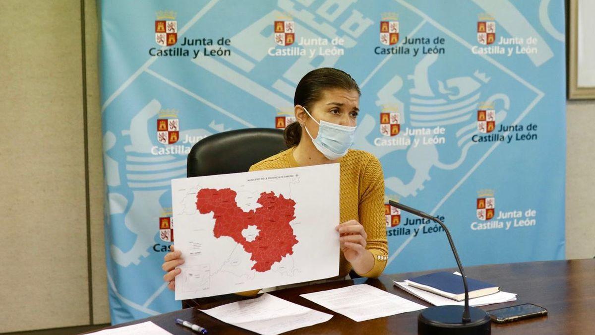 San Damián, durante la reunión del Cecopi sobre el coronavirus en Zamora