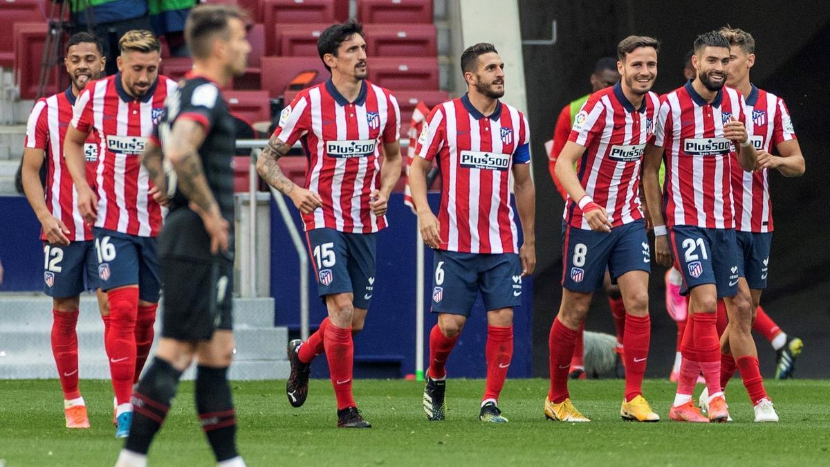 Una imagen del Atlético - Eibar.