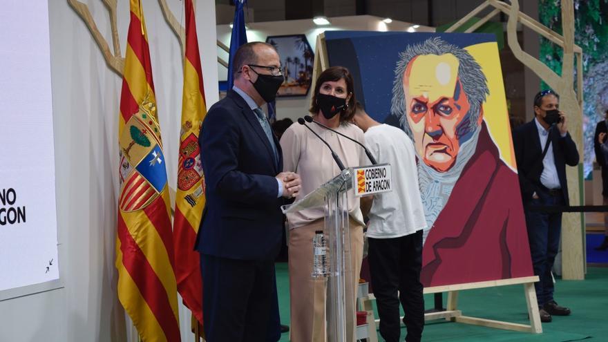 Aragón se promociona en Fitur como tierra de Goya y Pradilla y puerta de entrada al Camino de Santiago