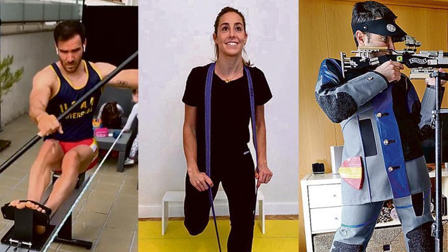 Los olímpicos asturianos trabajan en casa con una sonrisa