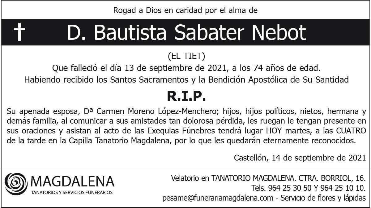 D. Bautista Sabater Nebot