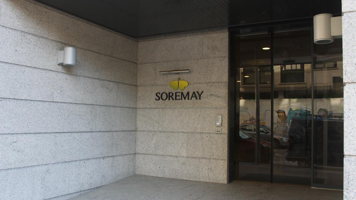Entrada de la residencia Soremay, en O Gorgullón.