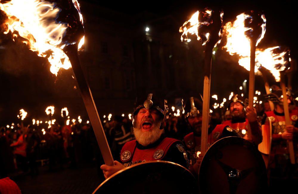 Celebración del Hogmanay (Año Nuevo)en Edimburgo.