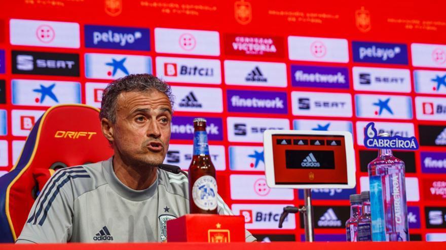 """Luis Enrique, sobre Aspas: """"No tengo nada negativo que decir de ningún jugador"""""""