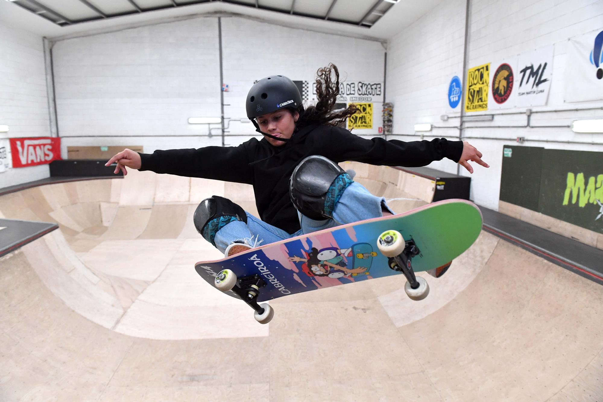 La 'skater' coruñesa Julia Benedetti, la más joven del equipo olímpico español, a punto de viajar a Tokio