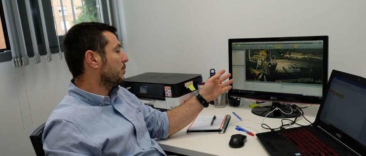 Ángel Montero, en su despacho.