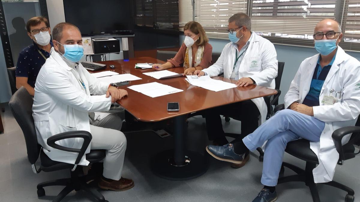 Un momento de la reunión celebrada en el Hospital de Montilla.