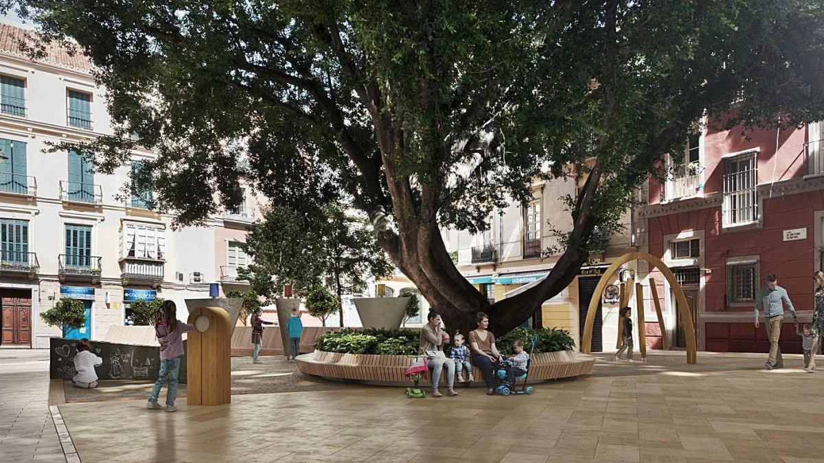 Así quedará la plaza de San Pedro de Alcántara según el anteproyecto.