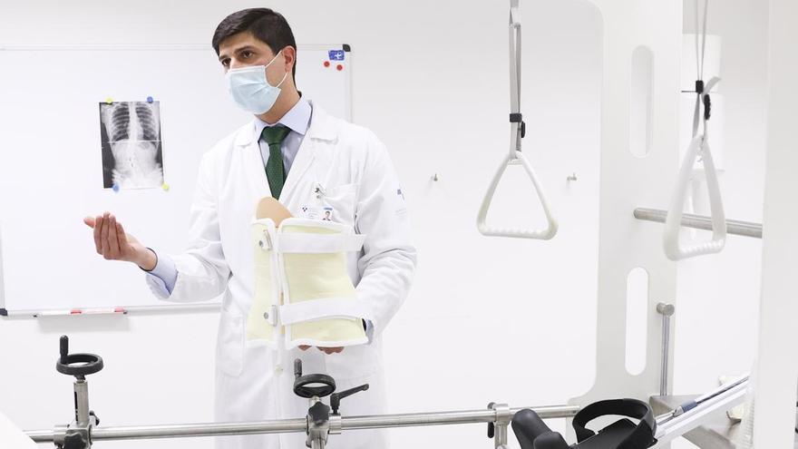 El innovador método contra la escoliosis que prepara el HUCA