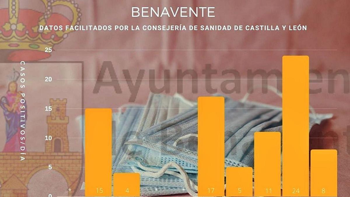 Gráfico de los datos por días del mes de enero. | Ayuntamiento de Benavente