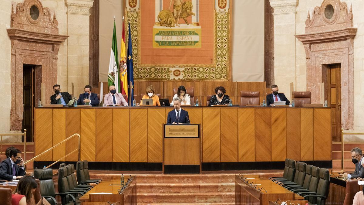 Imagen de la última sesión plenaria del Parlamento de Andalucía.