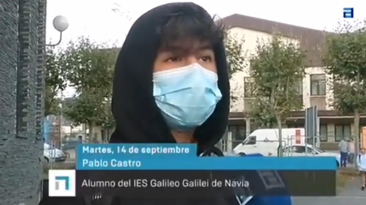 La respuesta viral de un estudiante asturiano en su primer día de clase.