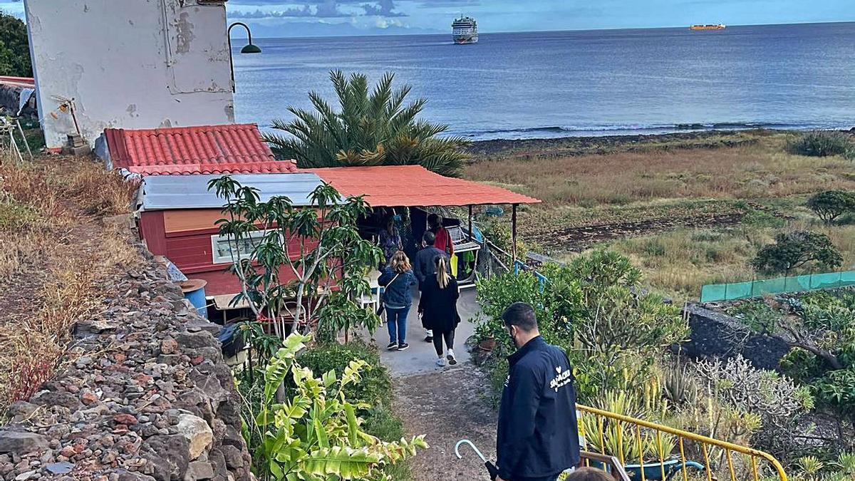 Detalles del recorrido por Igueste San Andrés. | |