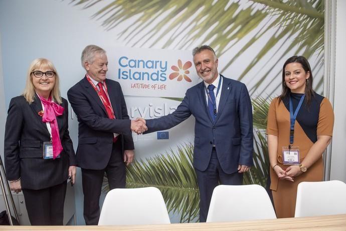 inauguración del Pabellón de Canarias de la World Travel Market, en Londres
