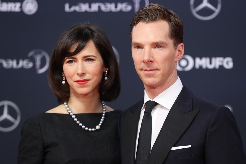 El actor Benedict Cumberbatch, presentador de la gala de los Laureus, y su mujer Sophie Hunter.