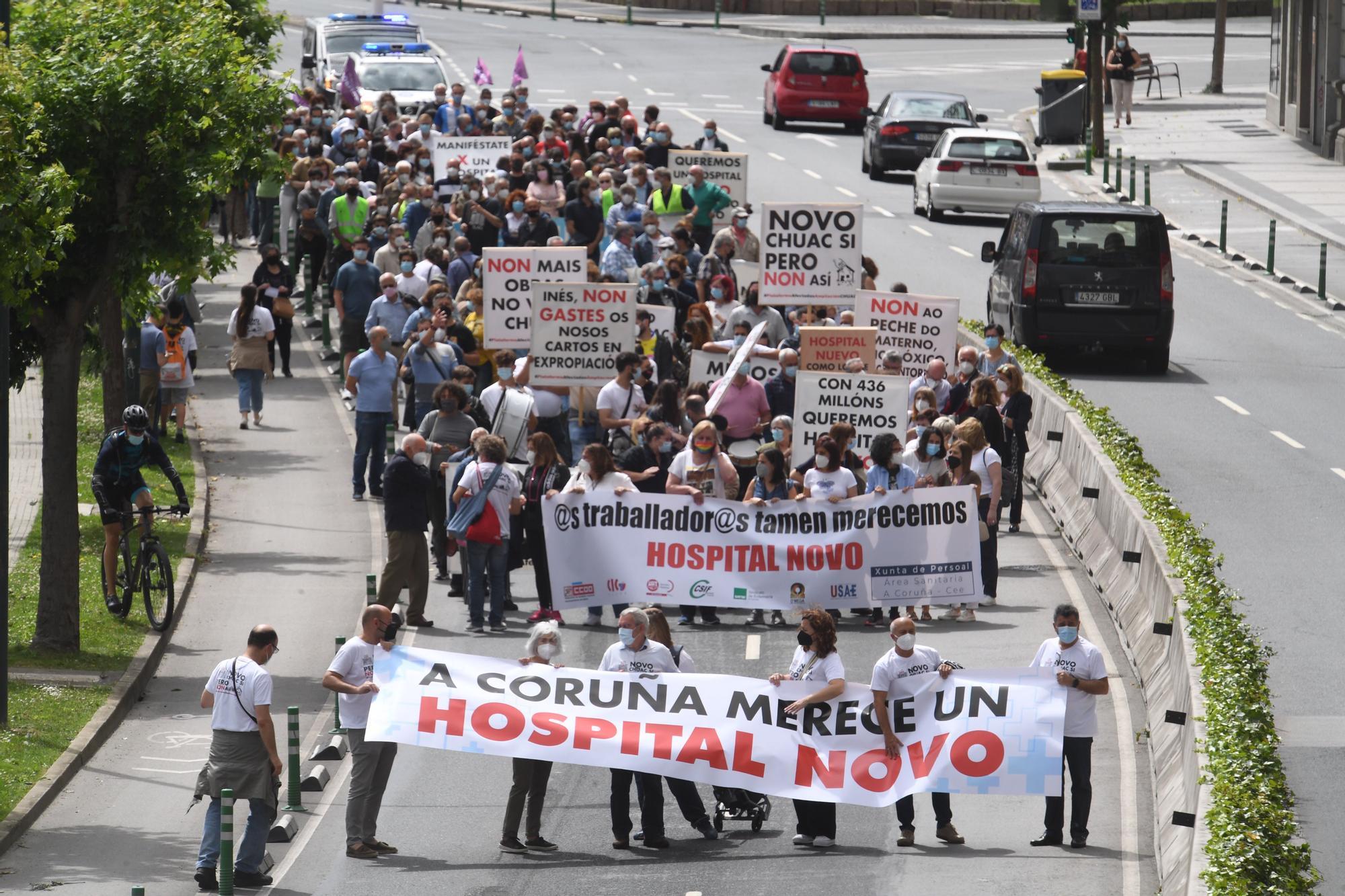 Manifestación en A Coruña para exigir un nuevo hospital