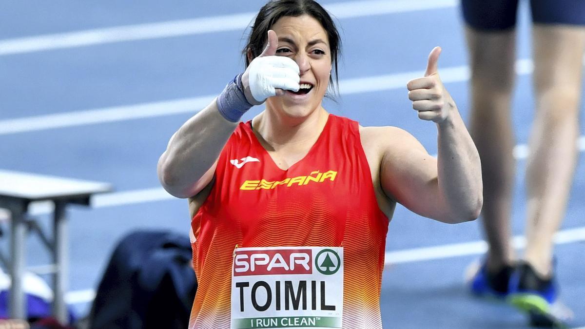 Belén Toimil celebra su registro.
