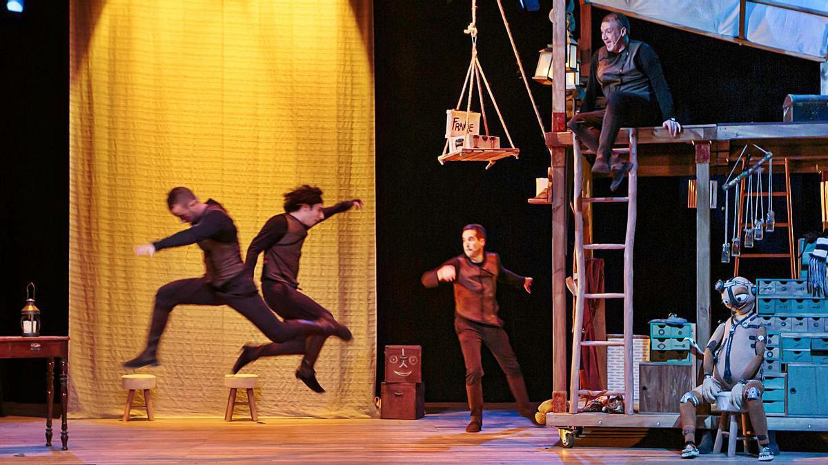 Una escena de la representació de l'obra 'Amic Frankie' que només oferirà una funció el diumenge vinent en la Sala L'Horta. | S.L'H.