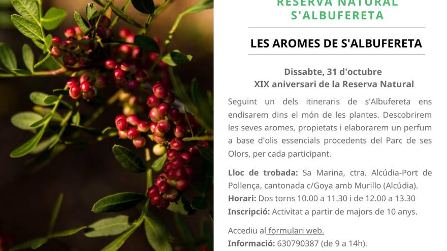 Les aromes de s'Albufereta. XIX Aniversari de la Reserva Natural