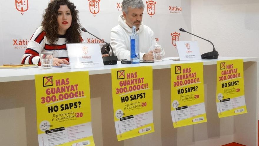 Los presupuestos participativos de Xàtiva contarán con una cartera de 300.000 euros