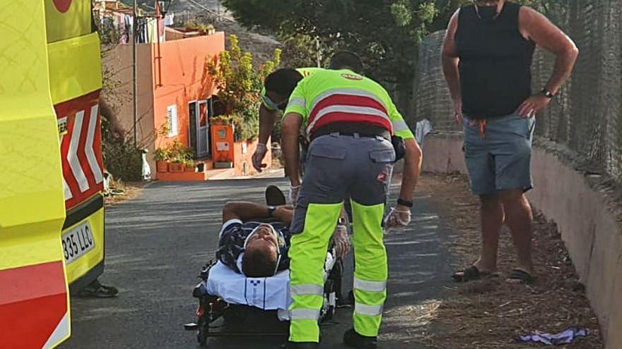 Herido un jinete al caer del caballo en Santa Brígida