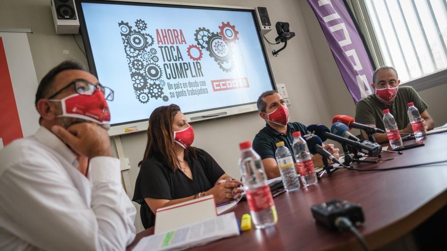 Comisiones  Obreras denuncia la desastrosa gestión del área de Podemos