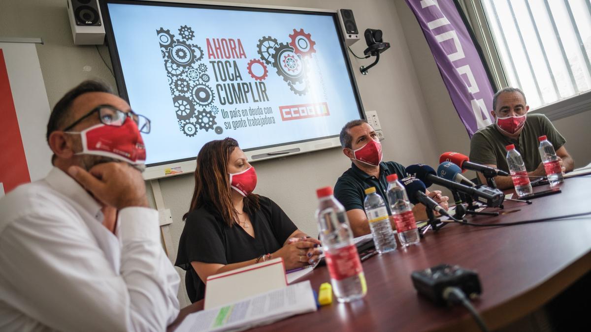 Rueda de prensa de Comisiones Obreras.