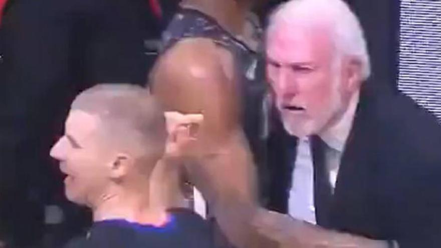 Vídeo: Enfado monumental y expulsión de Gregg Popovich en la NBA