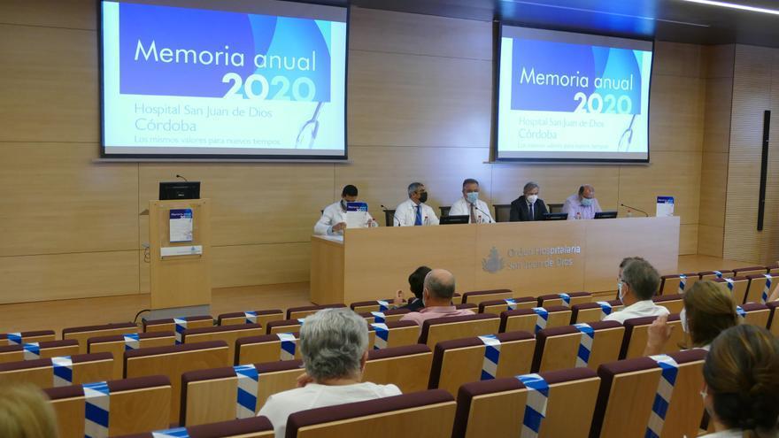 El hospital San Juan de Dios de Córdoba incrementó un 35% su actividad social en el año del covid