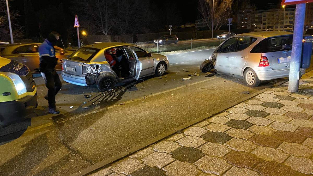 Accidente en la avenida Cardenal Cisneros de Zamora.