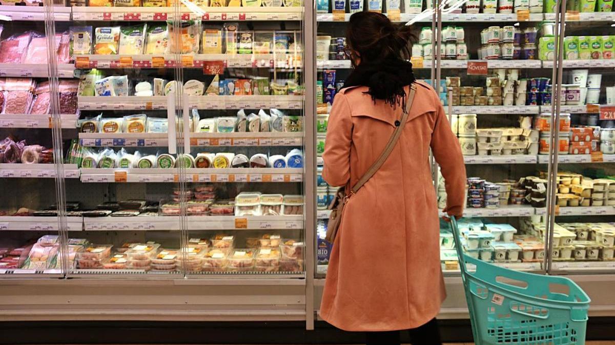 Un passadís del supermercat Veritas, en una imatge d'arxiu.