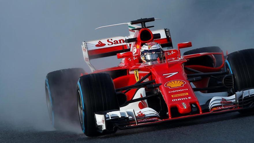 El Ferrari de Raikkonen, el más rápido en una jornada lenta
