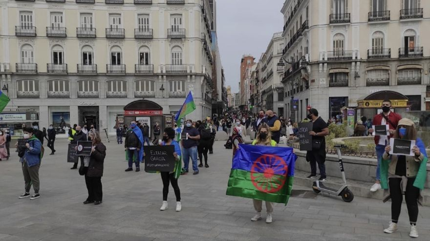 Protesta en Madrid por Eleazar García