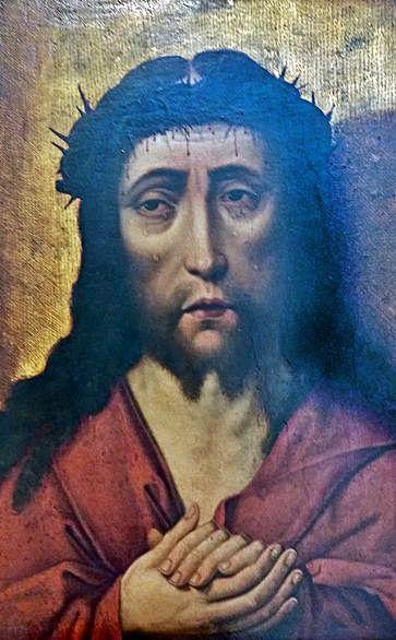 Cristo coroado de espiñas.